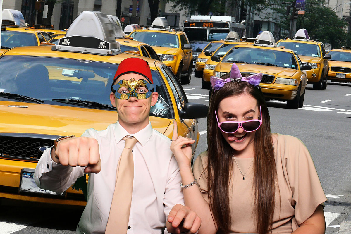 new york taxi photo booth