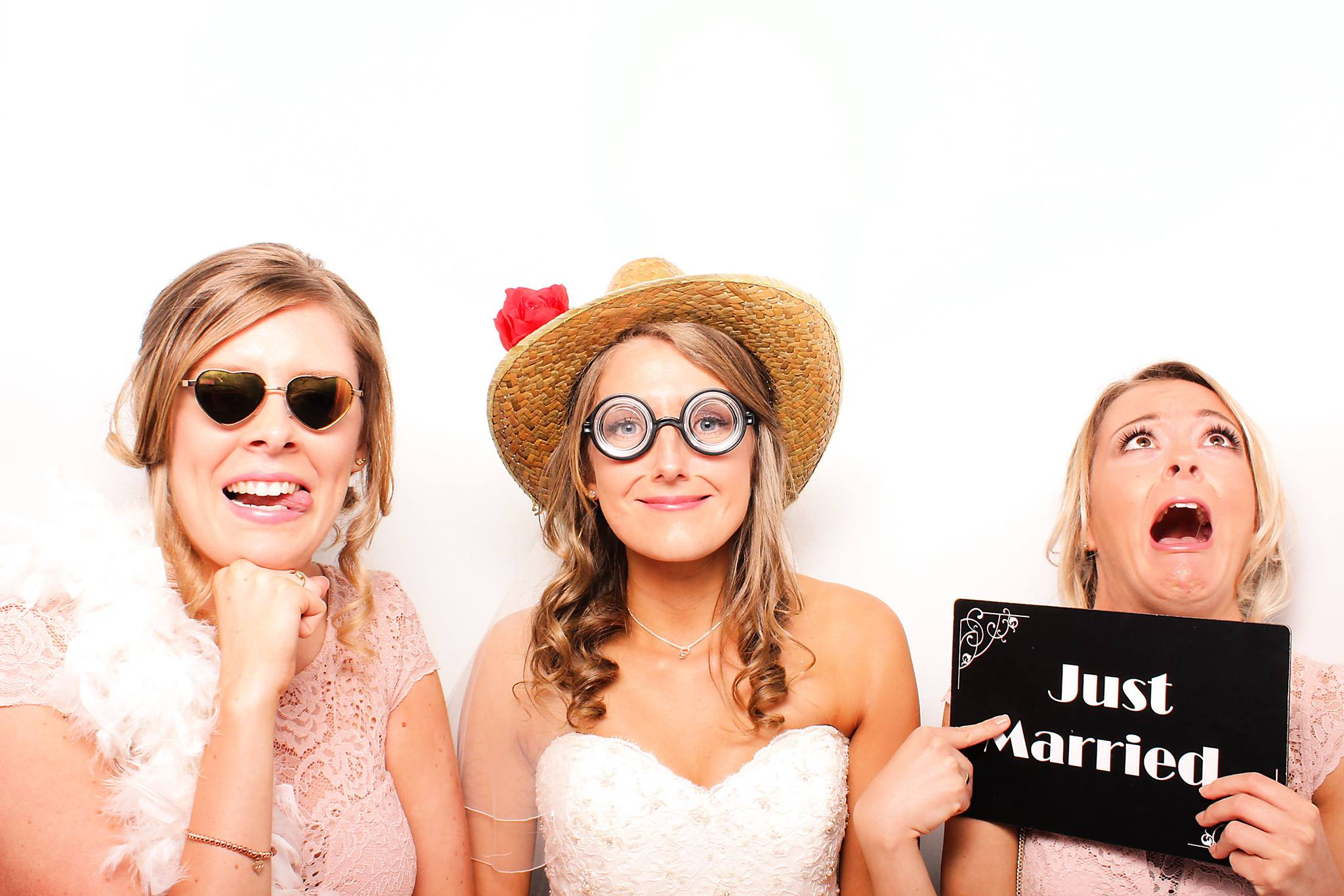 Just married in the Classic Photo Booth